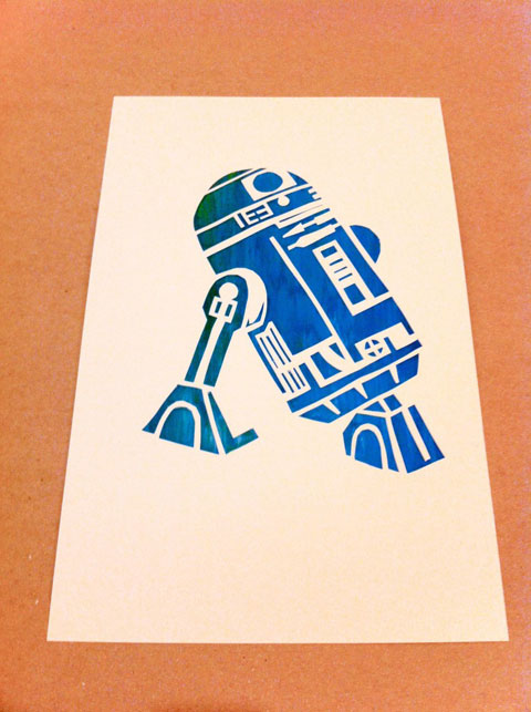 R2D2 looks good with a little  R2d2 Stencil